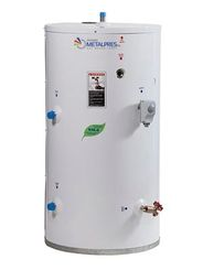 Single coil indirect fired water heaters